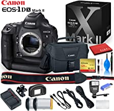 Canon EOS-1D X Mark II DSLR Camera with 128 GB Compact Flash Card, Canon Bag, Digital Flash, Extra Battery, and More