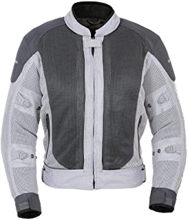 Tourmaster 'Flex Series 3' Womens Silver/Gunmetal Mesh/Textile Jacket - Small