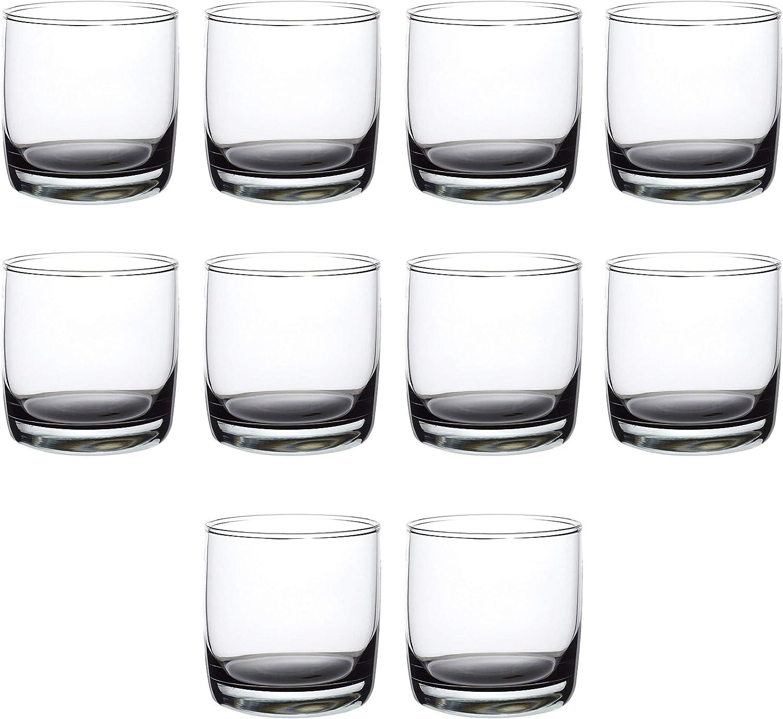 正規品送料無料 Whiskey Glasses 評価 10 oz Set of Old Fashioned Base Glass Heavy