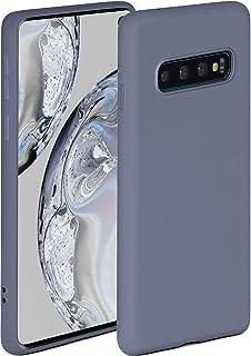 ONEFLOW Soft Case kompatibel mit Samsung Galaxy S10 Hülle aus Silikon, erhöhte Kante für Bildschirmschutz, zweilagig, weiche Handyhülle   matt Blau Grau