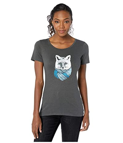 Columbia Outer Boundstm Short Sleeve Tee (Charcoal Heather/Little Foxy) Women