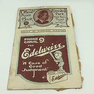 RARE 1919 Chicago White White Sox VS New York Yankees Original Program Black Sox