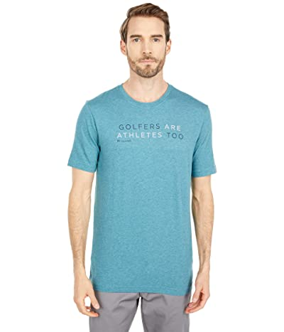 TravisMathew Ted T-Shirt (Heather Brittany Blue) Men