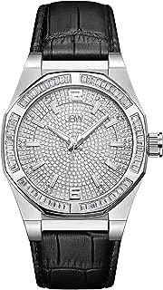JBW Men's J6350E Apollo 0.10 ctw Real Diamond Watch, 28mm Band and 44mm Diameter