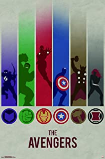 Trends International Marvel Comics - Avengers - Minimalist Logo Wall Poster, 22.375