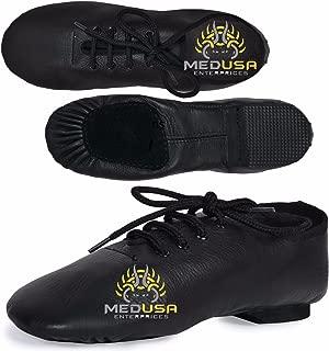 Medusa Jazz Dance Shoes Black Leather Split Rubber (Ballet Dance)