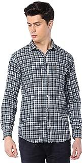 Men Cotton Casual Check Shirt with Small Checks