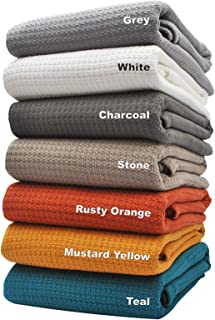 Best 100 cotton blankets king size Reviews