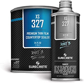 Concrete Countertop Sealer Semi-Gloss Finish Food Safe Water Based (100 ft²) 1 Quart Kit XS-327