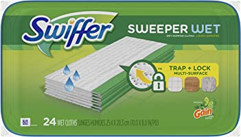 Swiffer Sweeper Wet Mopping Cloths Refills, Gain Original Scent, 24 Count (Packaging May Vary)