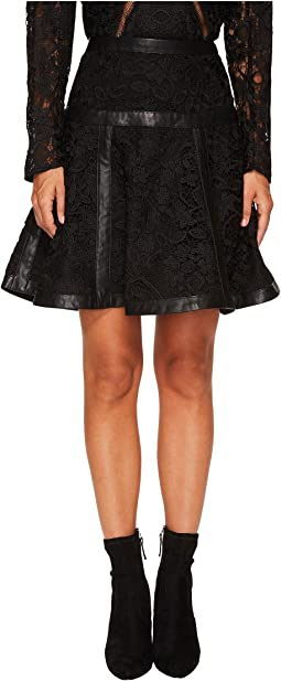 The Kooples - Lace Skirt with Stripes