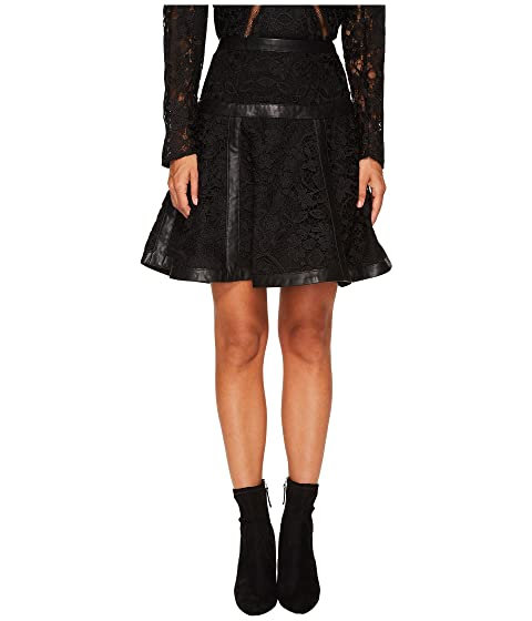 The Kooples Lace Skirt with Stripes