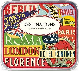 Cavallini & Co. Destinations Lot de 24 feuilles de stickers décoratifs assortis