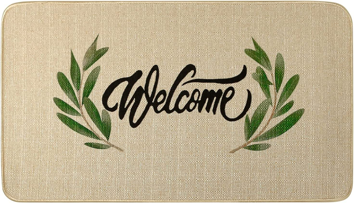 Silintion Welcome Doormat,Front Outdoor/Indoor Doormat Decorative Farmhouse Holiday Front Door Mat for Home Entrance 17 x 29 Inch