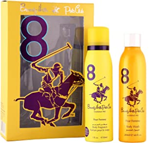 Beverly Hills Polo Club Gift Set 8 for Women (Deodorant and Body Wash)