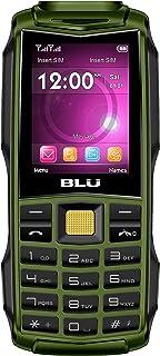BLU Tank 2.4 F030 32MB Unlocked GSM Dual-SIM Phone w/Dual 1W Super Flashlight - Military Green