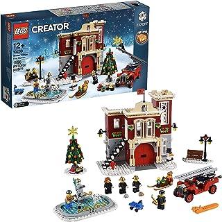 LEGO Creator Expert-Parque de bomberos navideño, divertido juguete