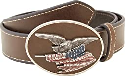 M&F Western - Eagle Flag Patriotic Flag Buckle Belt