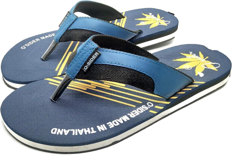 O Sider Men Sandal Flip-Flops marijuana Blue-Yellow