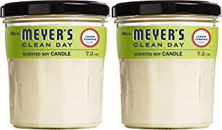 Mrs. Meyers Clean Day Scented Soy Candle, Lemon Verbena, Candle, 7.2 Ounce (Pack of 2)