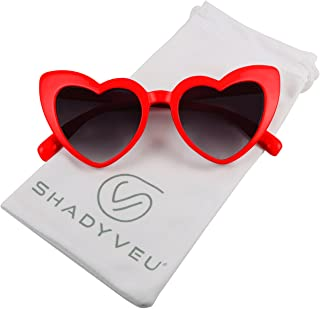 ShadyVEU Trendy Heart Shaped Love Colorful Baby Girl Toddler Ages 2-6 Yrs. Oversize Kids Sunglasses