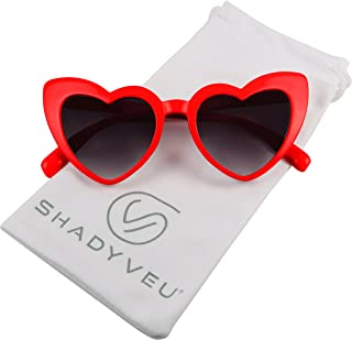 Trendy Kids Heart Shaped Love Colorful Girls Toddlers Ages 2-6 Yrs. Oversize Sunglasses
