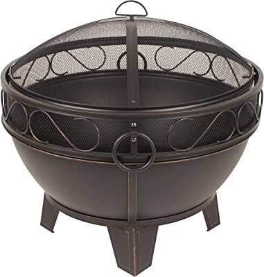 Pleasant Hearth OFW295R Bellora fire Pit, Rubbed Bronze
