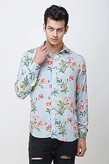 COLVYNHARRIS JEANS Men's casualwear Full Sleeve Slim Fit Shirt Collar Floral Print Luxury Shirt