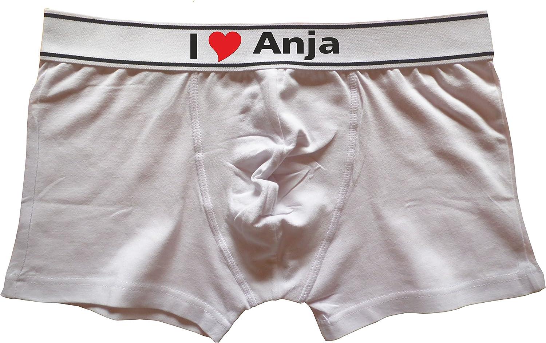 Kariban Herren Boxershorts Bedruckt mit I Love Anja oder individuell gestaltbar