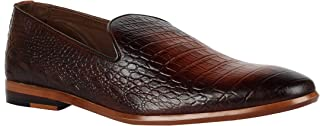 Franco Leone Men's Tan Slip on Formal Shoes