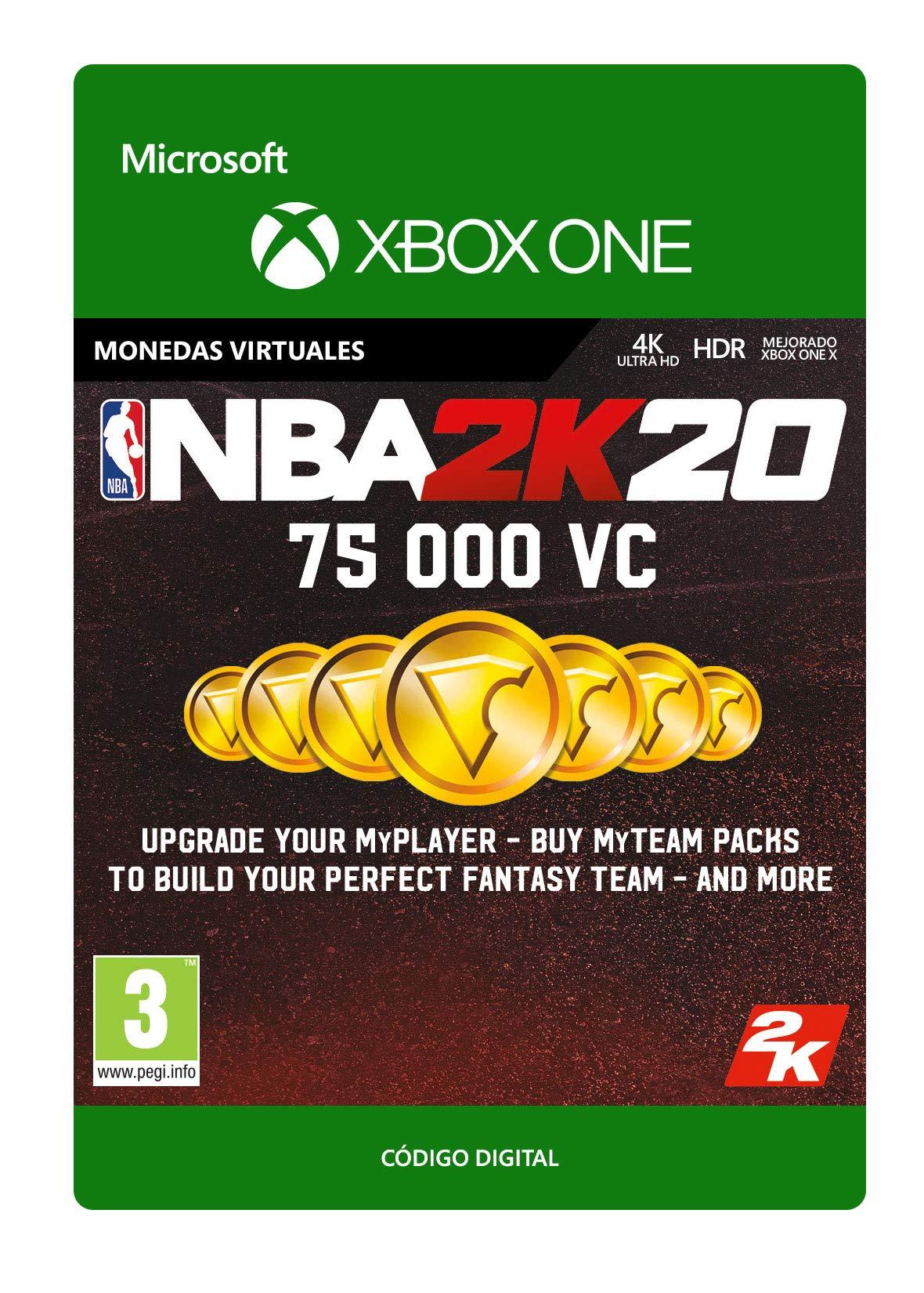 NBA 2K20: 75,000 VC | Xbox One - Código de descarga: Amazon.es ...