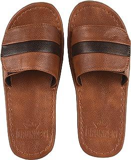 DRUNKEN Men's Synthetic Leather Flipflops Slippers