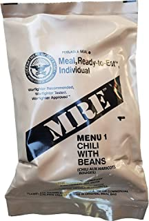 Ultimate 2018 US Military MRE Complete Meal Inspection Date January 2018 or Newer (Chili with Beans)