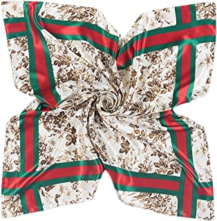 Polyester Scarf Women's Fashion Pattern Large Square Satin Headscarf 35''x35''