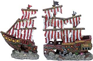Penn Plax Striped Pirate Ship