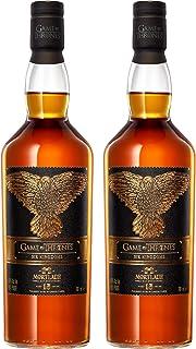 Mortlach 15 Jahre The Six Kingdoms 2er Set Game of Thrones Whisky, Dreiäugiger Rabe, Limited Edition, Schnaps, Alkohol, Flasche, 46%, 2 x 700 ml