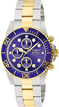 Invicta Men's 1773 Pro Diver 18k Gold Ion-Plating & Stainless Steel Watch