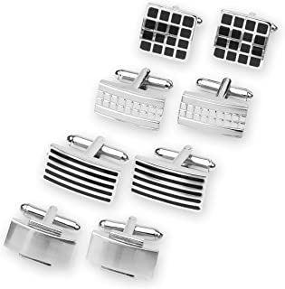 4 Pairs of Classic Cufflinks By Men's Collection