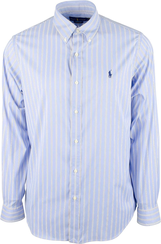 Polo Ralph Lauren Men's Performance Striped Long Sleeves Shirt
