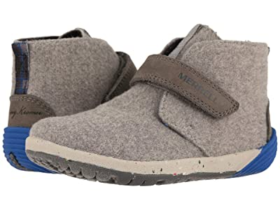 Merrell Kids Bare Steps Boot (Toddler) (Grey/Stormy Kromer) Boys Shoes