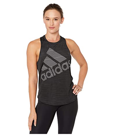adidas Badge of Sport Logo Tank Top (Black) Women