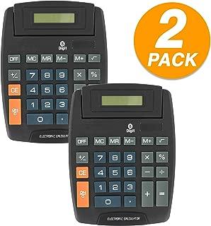 Emraw 8-Digit Large Desktop Calculator Dual Power Big Button Standard Function Large Display Handheld Scientific Office Calculator (Pack of 2)