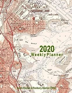 2020 Weekly Planner: South Boston & Roxbury, Boston (1956): Vintage Topo Map Cover