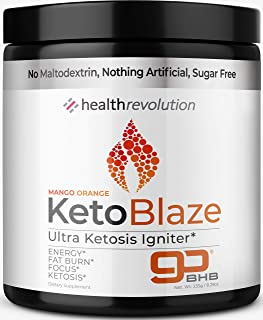 Health Rev Keto Igniter Electrolyte Powder – Beat Leg Cramps, Boost Energy, Patented BHB Salts for Easy Ketosis, Weight Loss, Focus
