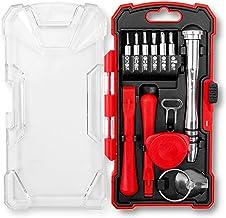 Hi-Spec Kit de Reparación de Móviles y Electrónica de 18 Piezas con Destornillador Antiestático Telescópico, Juego de Puntas para Iphone, Ipad, Torx, Philips y Planas, Púa y de Plástico