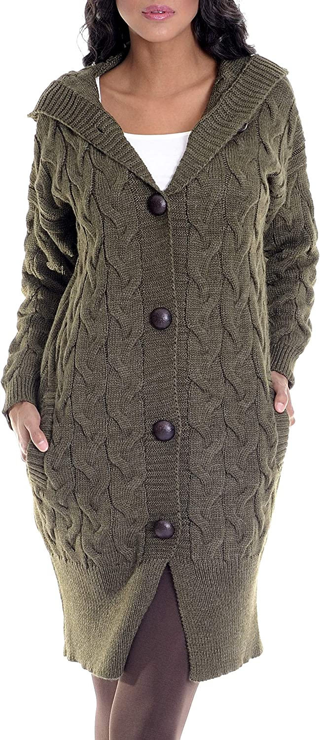 LEIF NELSON Women's Knit Seattle Mall Jacket Las Vegas Mall With Hood Casual Basic