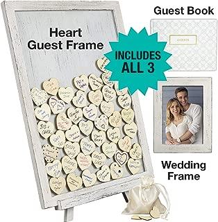 coral wedding guest book