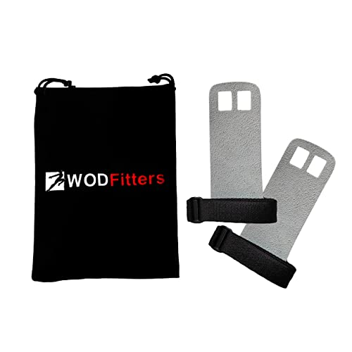 WODFitters Textured Leather Hand Grips For Cross Training, Kettlebells, Powerlifting, Chin Ups,