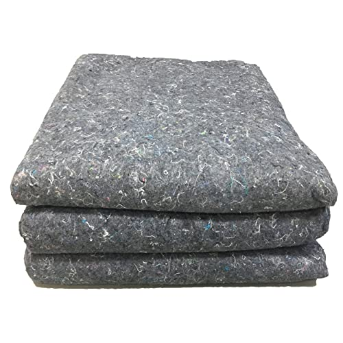 """UBOXES Moving Blankets Professional Quality Textile Skins 54"""" x 72"""" Pads, Grey (3-Pack)"""