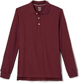 French Toast Boy's Long Sleeve Pique Polo Shirt (Standard & Husky) Polo Shirt (pack of 1)